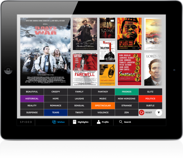 Spideo Is Like A Mood Ring For Movie Buffs