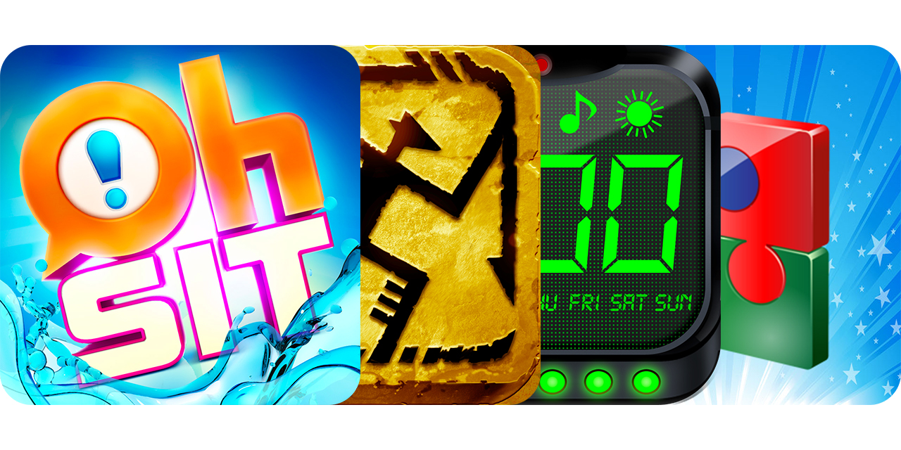 Today's Best Apps: Oh Sit, Feast Or Famine, Alarm Clock Pro 5 And World Puzzle HD