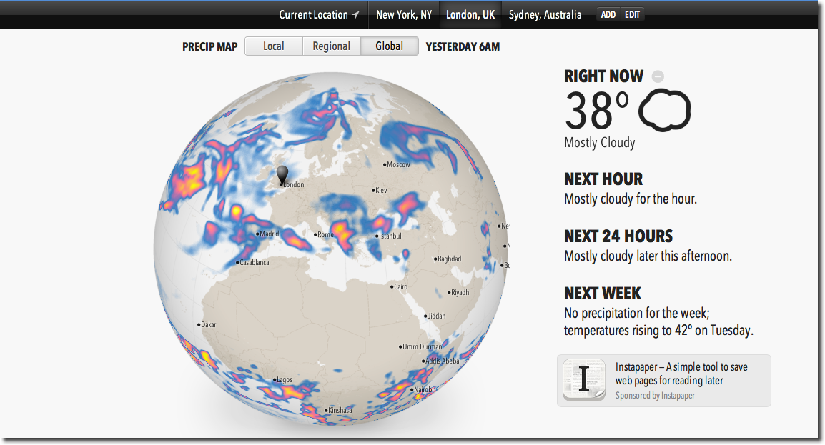 Meet Forecast, The Web-Based Weather App From The Dark Sky Team
