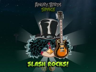 Rock Musician Slash Invades Angry Birds Space