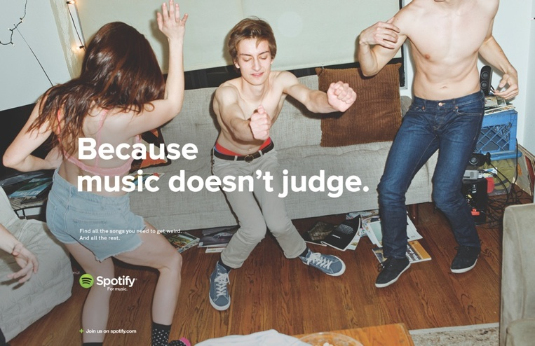 Spotify Launches 'For Music' Advertising Campaign