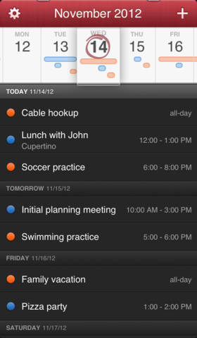 Fantastical For iPhone Updated With New Event List View, Callback URL And More