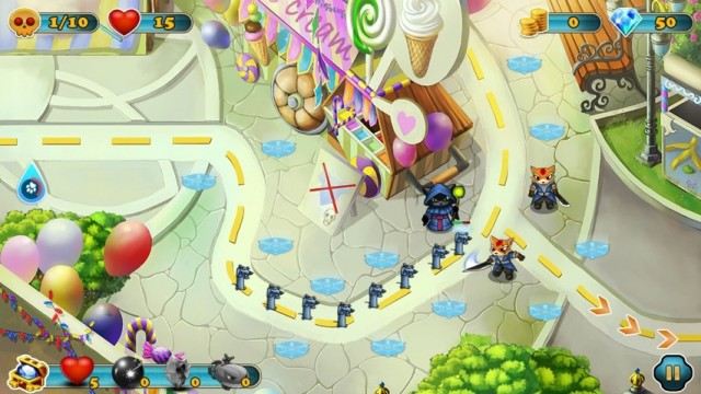 Protect Your Village From The Evil Mice In Cat Warrior