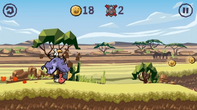 Save Rad From The Evil Poachers In Rhino Raid