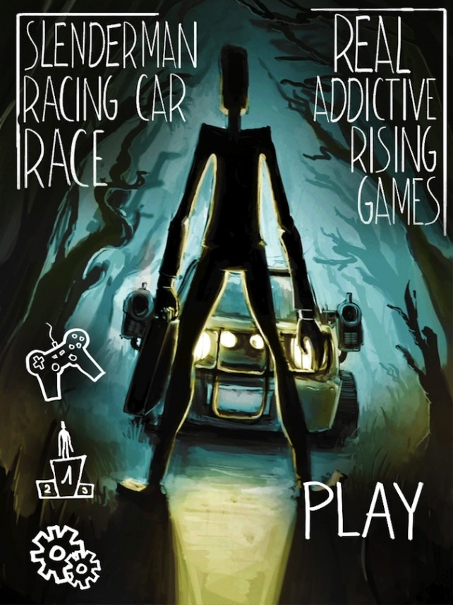 Quirky App Of The Day: Take Down Slender Man In Slender Man Racing Car Race