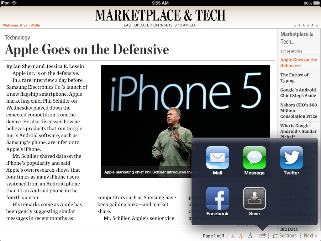 The Wall Street Journal Version 5.1