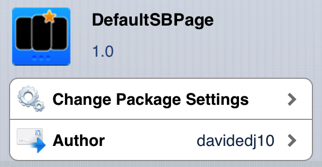 Cydia Tweak: Change Your Default Home Screen Page With DefaultSBPage