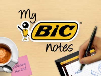 Take Notes Using Virtual Bic Writing Instruments With My Bic Notes For iPad