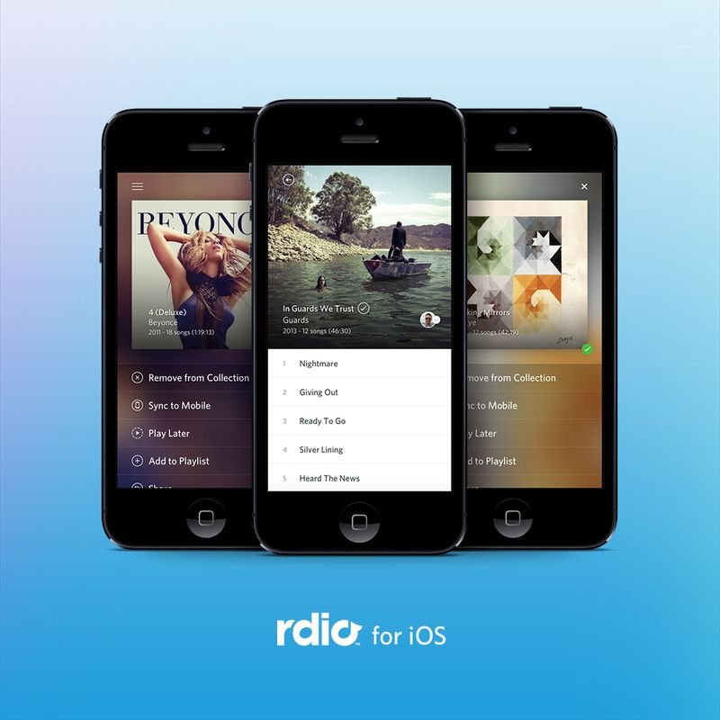 Looks And Sounds Good: Rdio For iPhone Update Brings New Album And Playlist Views