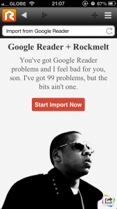 Say Goodbye To Google Reader And Hello To Rockmelt