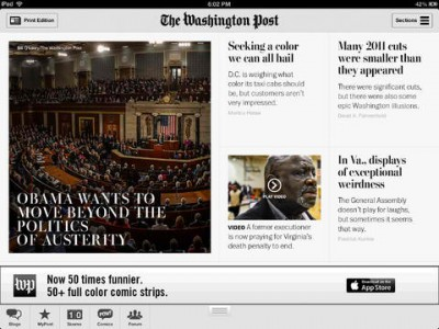 The Washington Post Redesigns Official iPad App In Preparation For Paywall