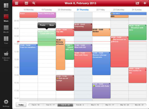 Week Calendar HD 5.0 Delivers Redesigned Interface Plus More Features