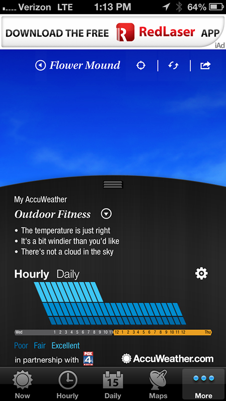 AccuWeather For The iPhone Now Features Customizable Forecasts
