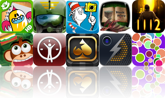 Today's Apps Gone Free: iLuv Drawing Monsters HD, Pilot's Path, Dr. Seuss Camera And More