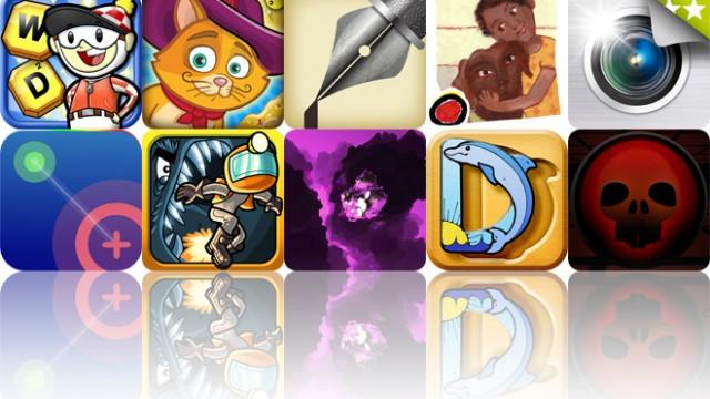 Today's Apps Gone Free: Word Derby, Grimm's Puss In Boots, Journals And More