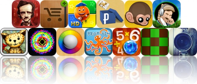 Today's Apps Gone Free: iPoe, iCanShop, Merry Cubes HD And More