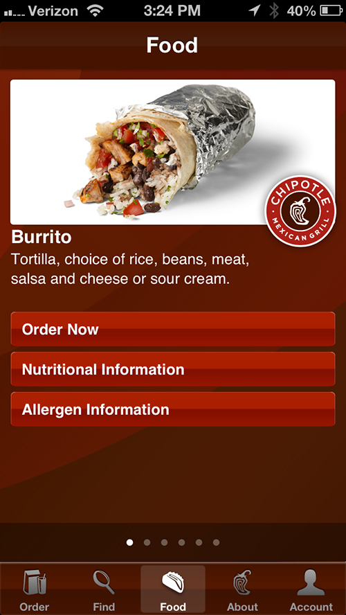 Chipotle's Ordering App Delivers iPhone 5 Support And Other Goodies
