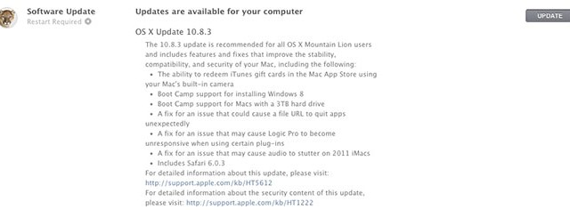 Apple Releases OS X 10.8.3 For Mac, Adds Camera Gift Card Redemption For Mac App Store