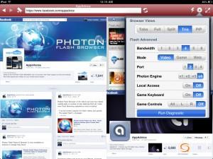 Photon Flash Browser version 4.0 (iPad 2) - Viewing Modes