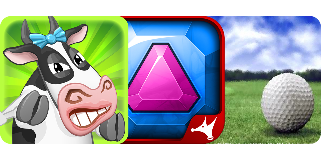 Today's Best Apps: Udder Destruction, Move The Jewel And Golf Pro 2