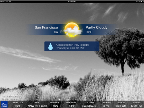 Updates To The Weather Channel For iPad And NOAA Radar Pro Add Nice Features