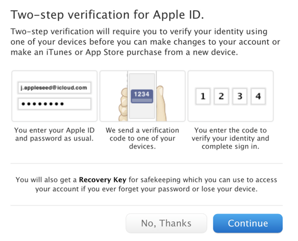 Apple Introduces Optional Two-Step Verification System For iCloud, Apple IDs