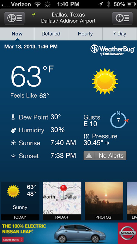 The WeatherBug iPhone Apps Are Sporting A Brand-New Look