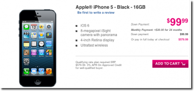 T-Mobile USA Is Now Accepting iPhone 5 Preorders Ahead Of April 12 Launch