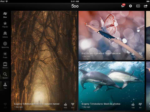 Just Go With The Flow And Discover Great Photos With 500px For iOS