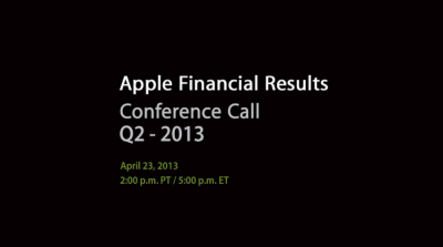 Apple To Announce Q2 2013 Financial Results Via Conference Call On April 23