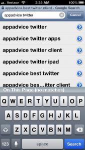 Cydia Tweak: Easily Build On Safari Search Terms With Platinum