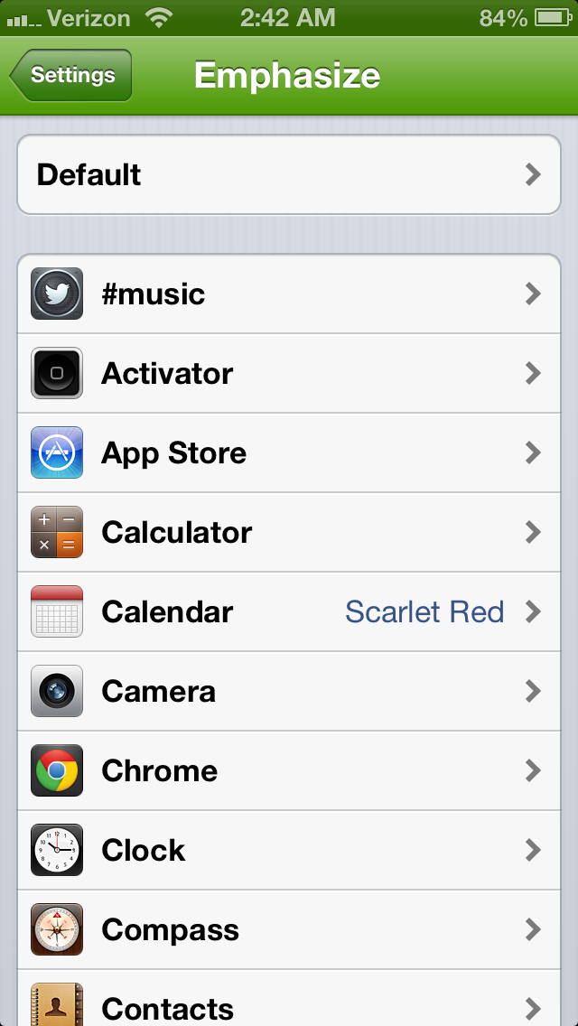Cydia Tweak: Customize Color Schemes For Individual Apps With Emphasize