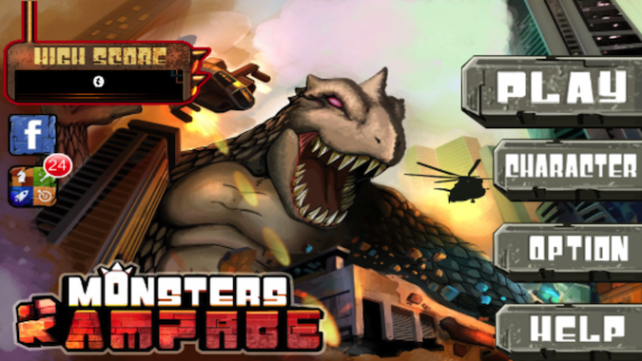 Quirky App Of The Day Demolish The City In Monsters Rampage