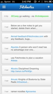 Fetchnotes Is Like Twitter For Your To-Dos And Notes