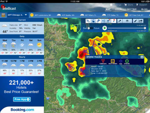Intellicast HD 4.0 Introduces Storm Tracking Subscription And Map Annotation