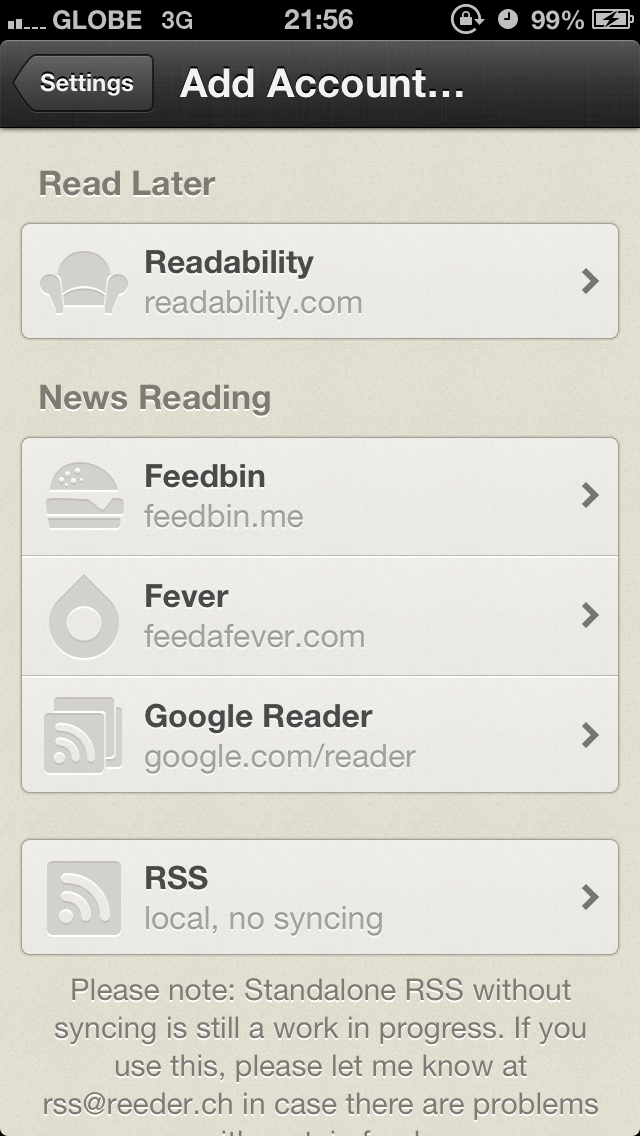 Reeder Updated With Feedbin And Local Support As Google Reader Alternatives