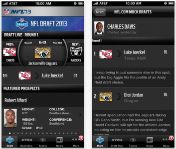 NFL '13 App Updated: Adds Second Screen, Advanced Push Support, NFL Draft
