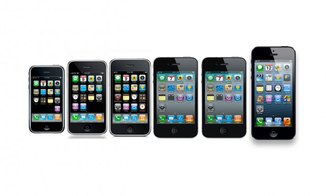 iphone through the years a walk memory six iphones six years 7734