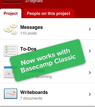 Basecamp Users Rejoice - The iOS App Now Supports Classic