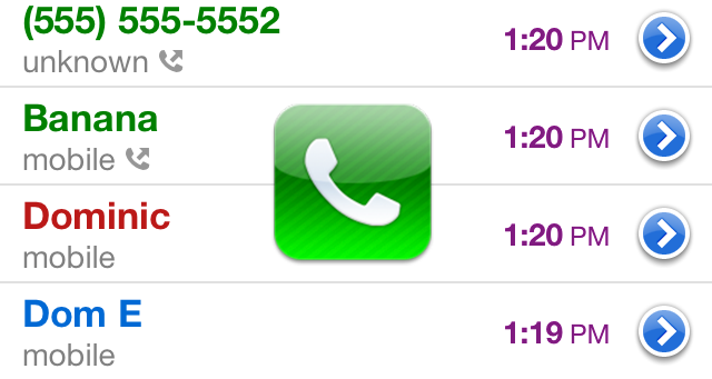 Cydia Tweak: Color Code Your Recent Calls With Prime