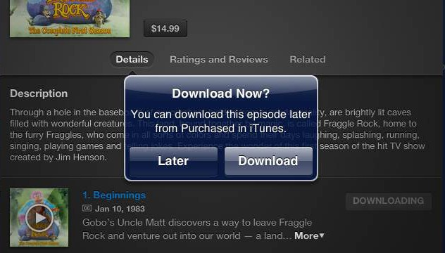 New iTunes Option Allows Users To Download Large Content Later