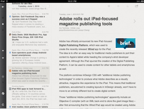 Reeder For The iPad And Mac Is Now Free