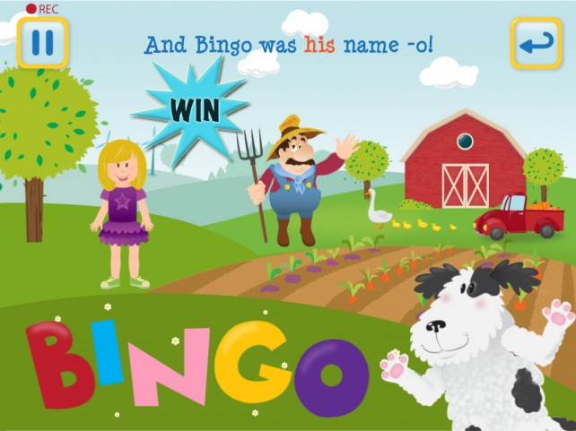 Win The Bingo Song HD For iPad And Share The Timeless Classic In A New Way