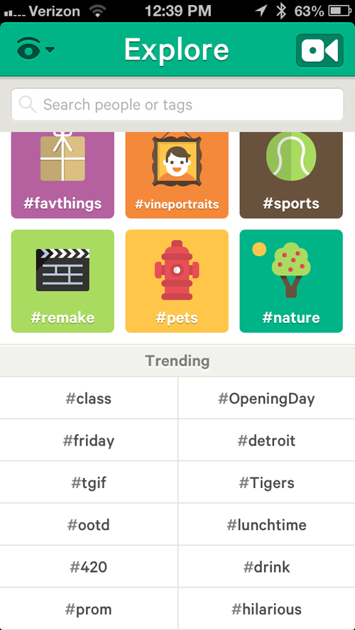 Vine Launches Trending Hashtags