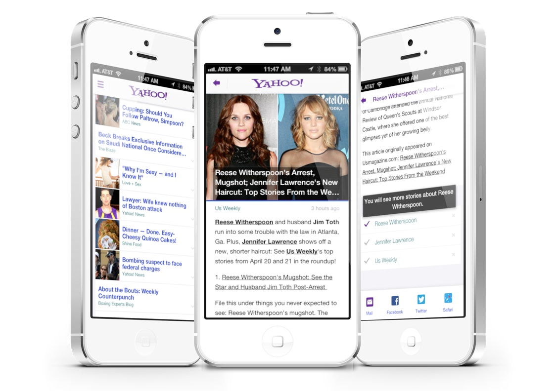 Updated Yahoo App Includes Summly Integration And More Personalization