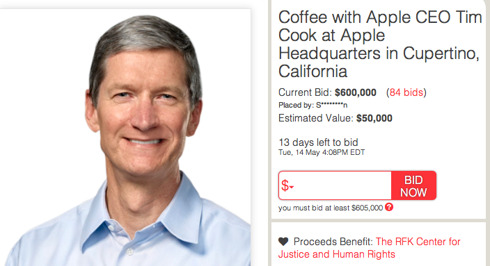 Can You Believe What This Person Did Just For A Chance At Coffee With Tim Cook?