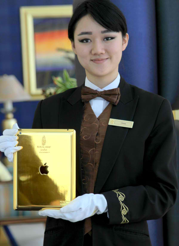 Dubai's Burj Al Arab Hotel Now Offering 24-Carat Gold-Plated iPads For In-House Guests