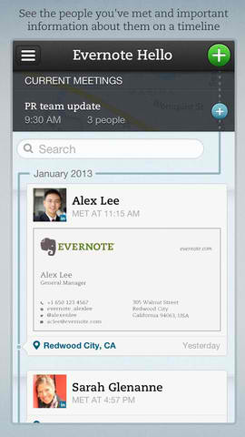 Evernote Hello Updated With New Address Book Section And New Profile Fields