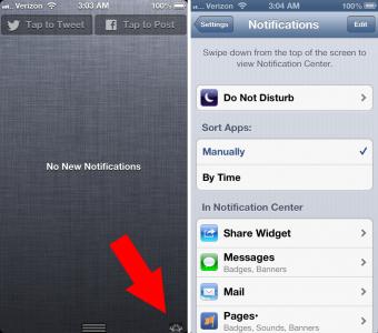 Cydia Tweak: Add An OS X-Inspired Settings Shortcut To Notification Center
