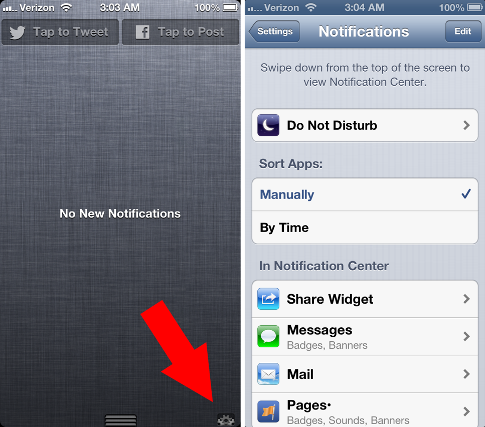 Cydia Tweak: Add An OS X-Inspired Settings Shortcut To Notification Center